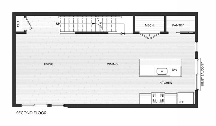 Building 3 Unit B:Second Floor