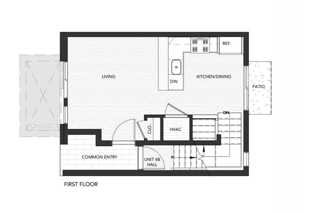 Building 4 Unit A:First Floor
