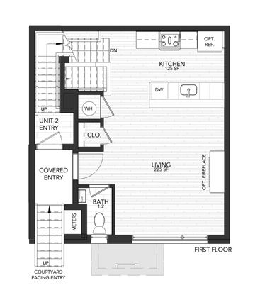 1110 Unit A:First Floor