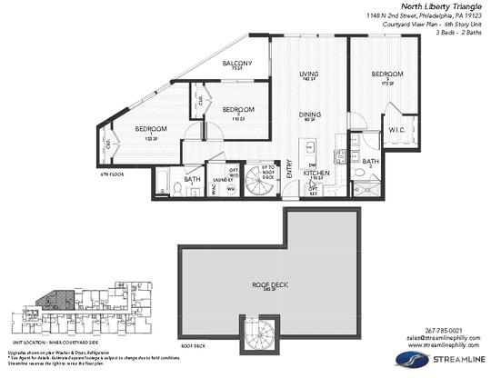 1149 6B Courtyard:Floor plan