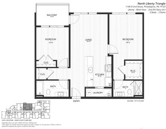 4 LIBERTY WEST:Floor plan
