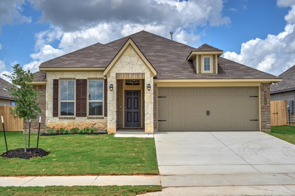 Exterior featured in the 1514 By Stylecraft Builders in Killeen, TX