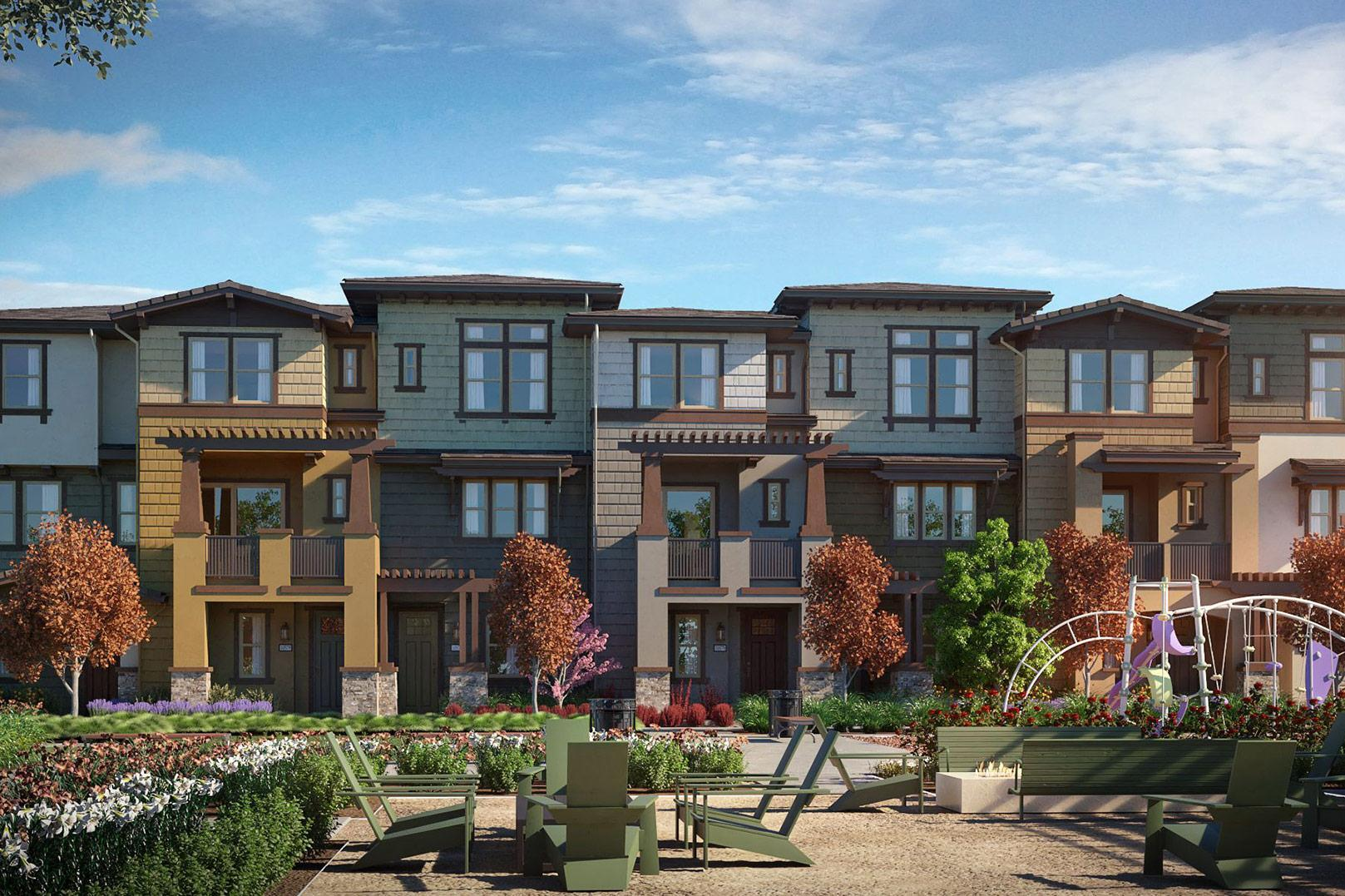 Exterior featured in the Marquetta Residence 1 By SummerHill Homes in San Jose, CA
