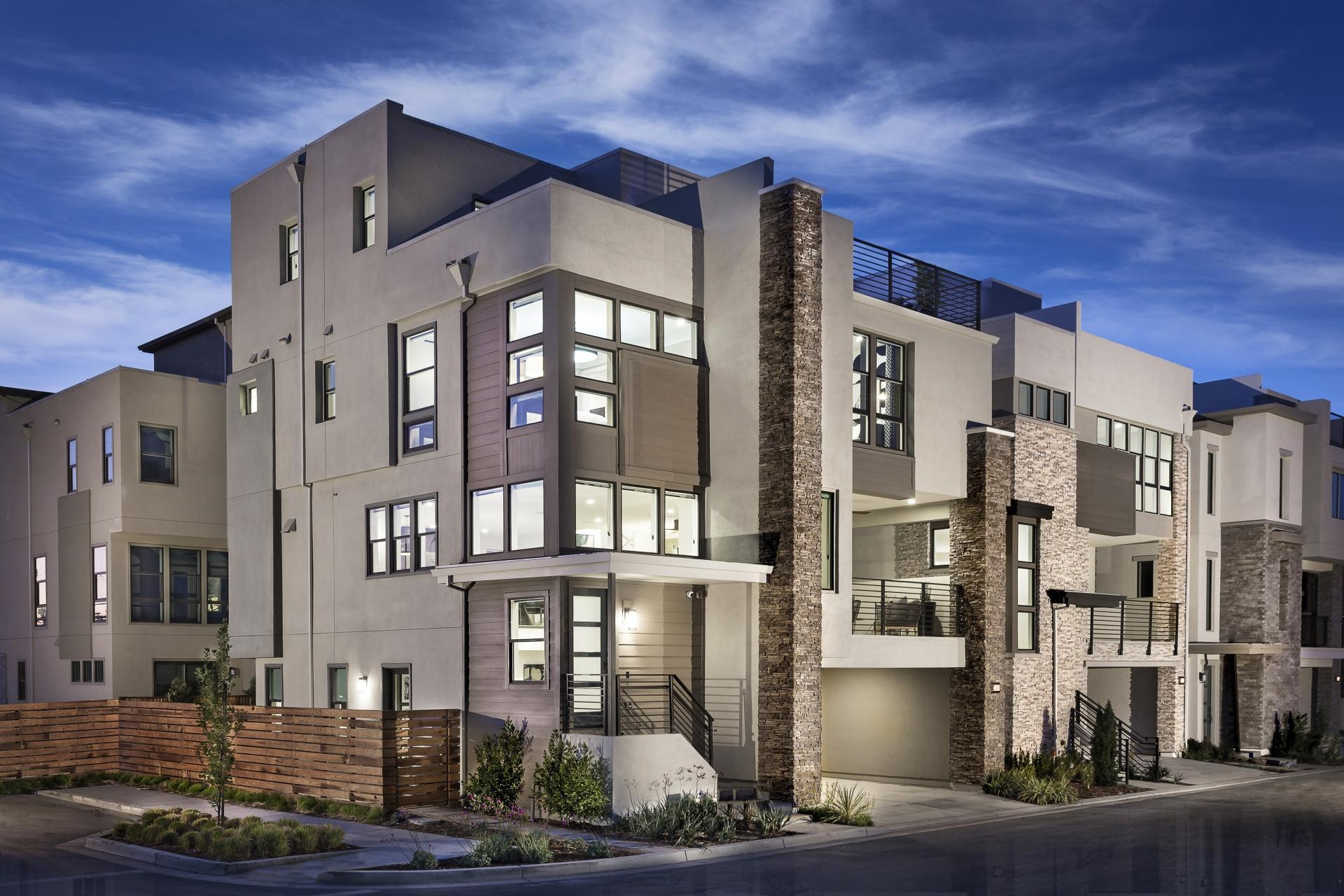 Exterior featured in the E-States Plan 1 By SummerHill Homes in San Jose, CA
