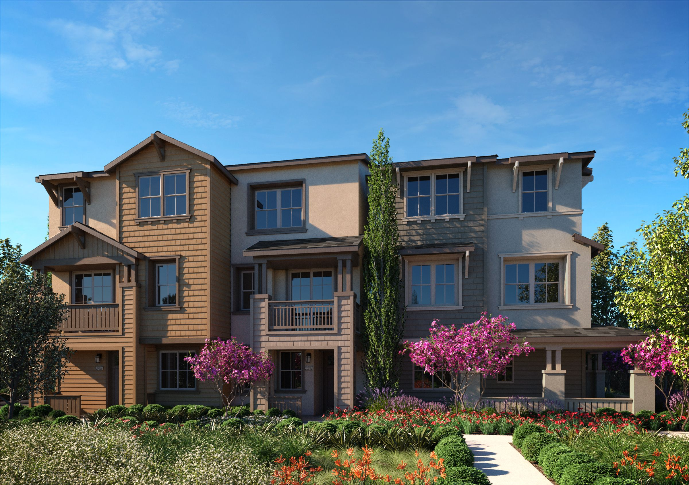 Exterior featured in the PLAN THREE By SummerHill Homes in San Jose, CA