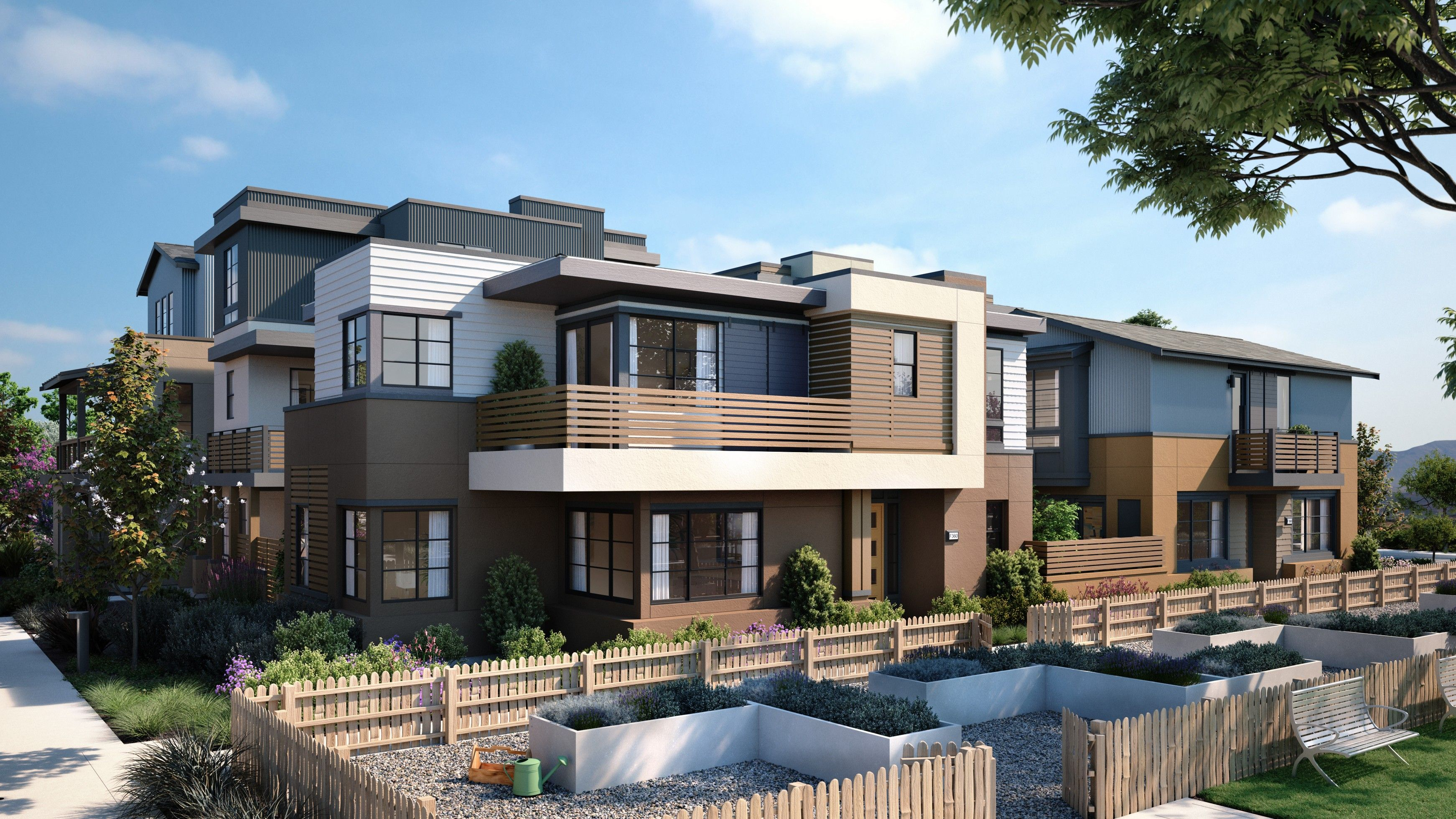 Exterior featured in The Bungalows- Plan 2A By SummerHill Homes in San Jose, CA