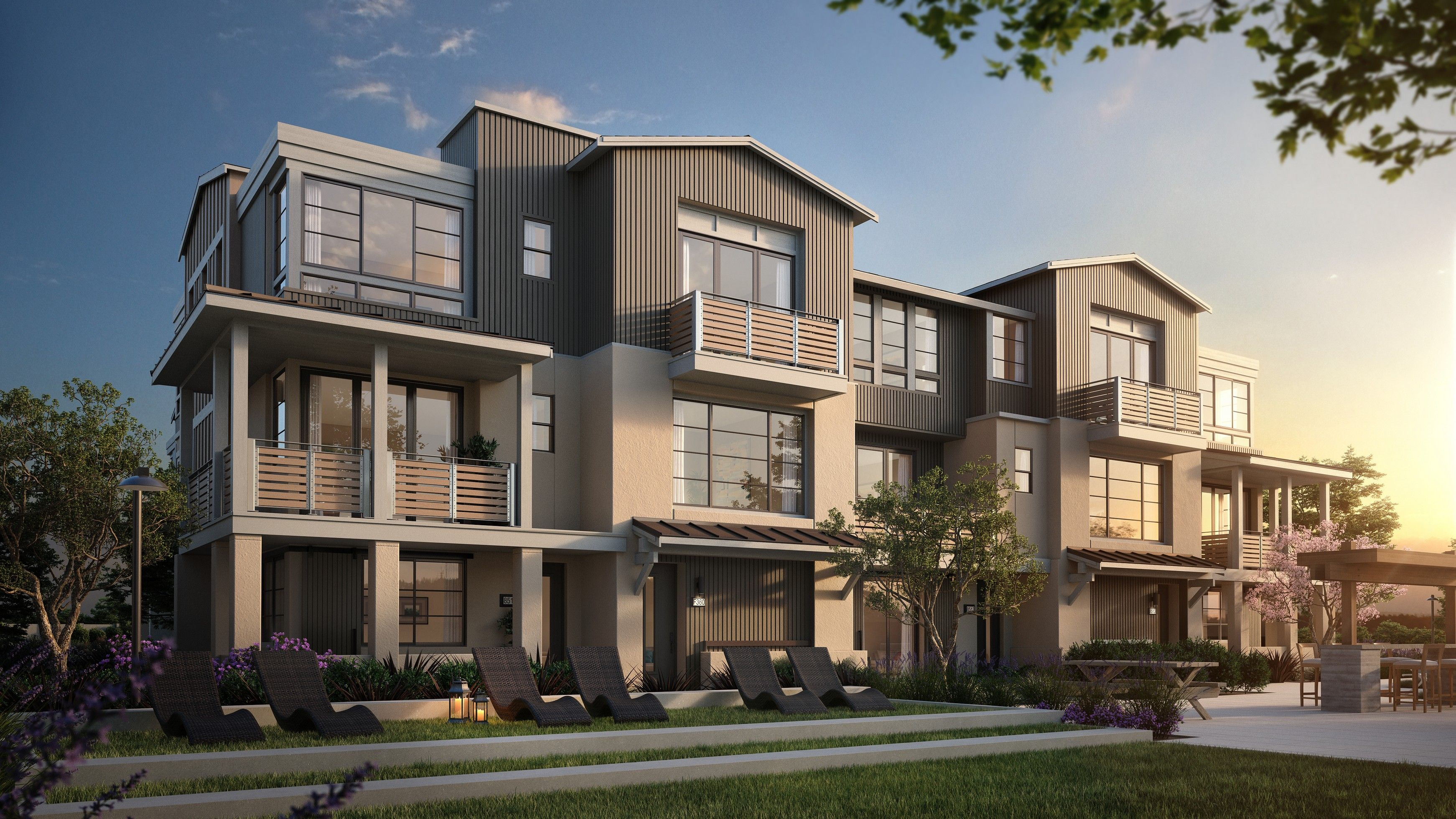 Exterior featured in The Towns- Plan 2 By SummerHill Homes in San Jose, CA