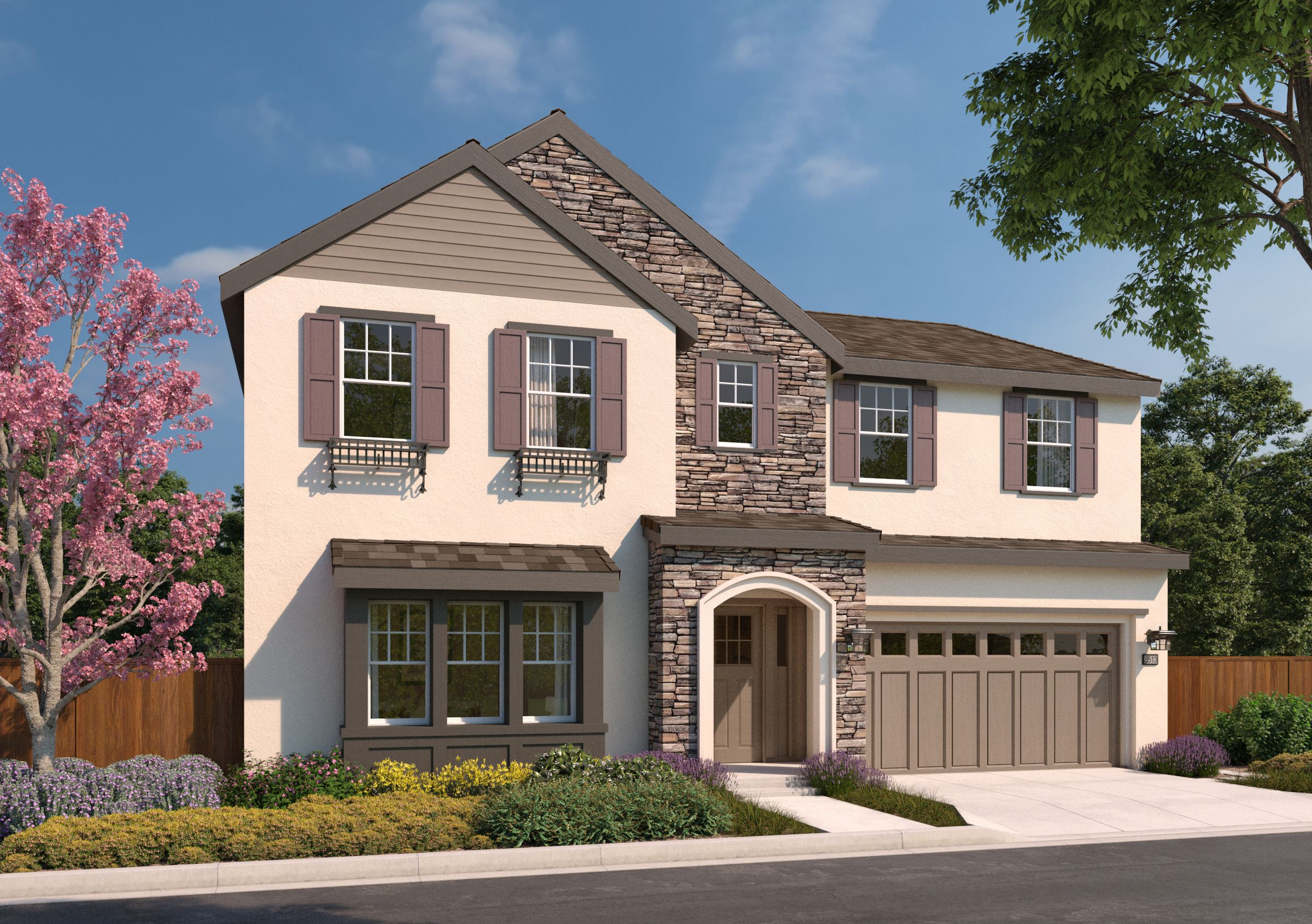 Exterior featured in the 6A By SummerHill Homes in San Jose, CA