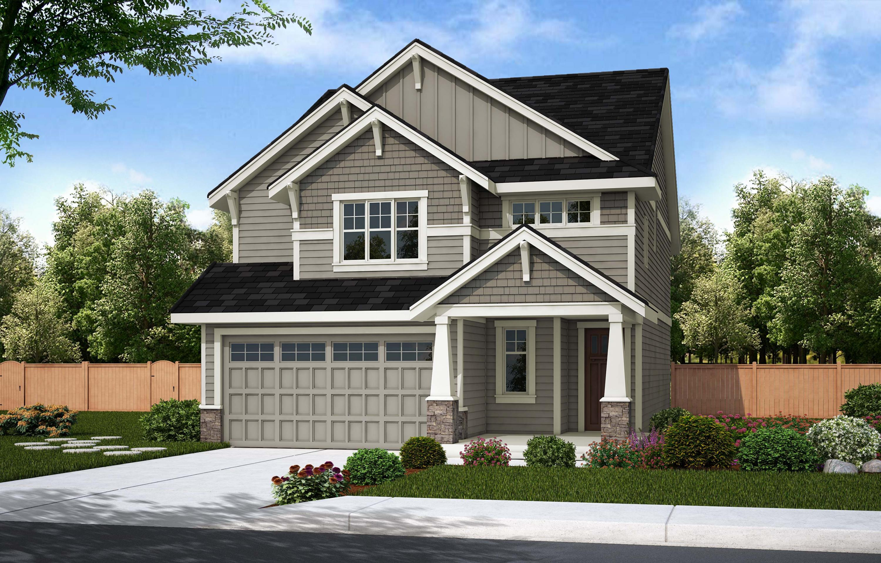 Exterior featured in the CT 2973B By Summit Homes  in Seattle-Bellevue, WA