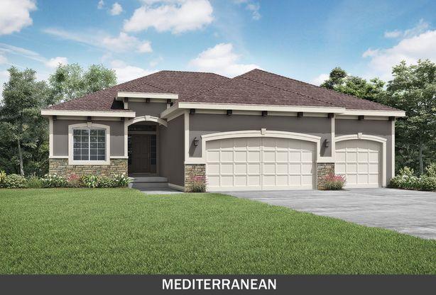 Summit Custom Homes KC:Linden Mediterranean Elevation