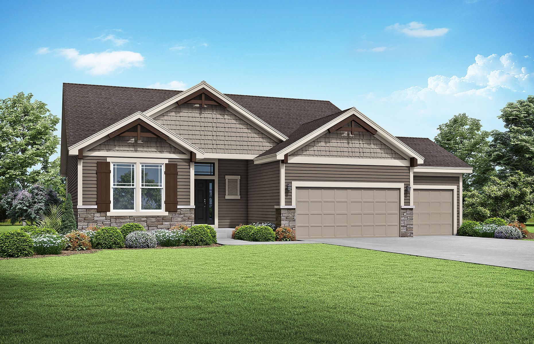 Exterior featured in the Newhaven By Summit Homes in Kansas City, MO