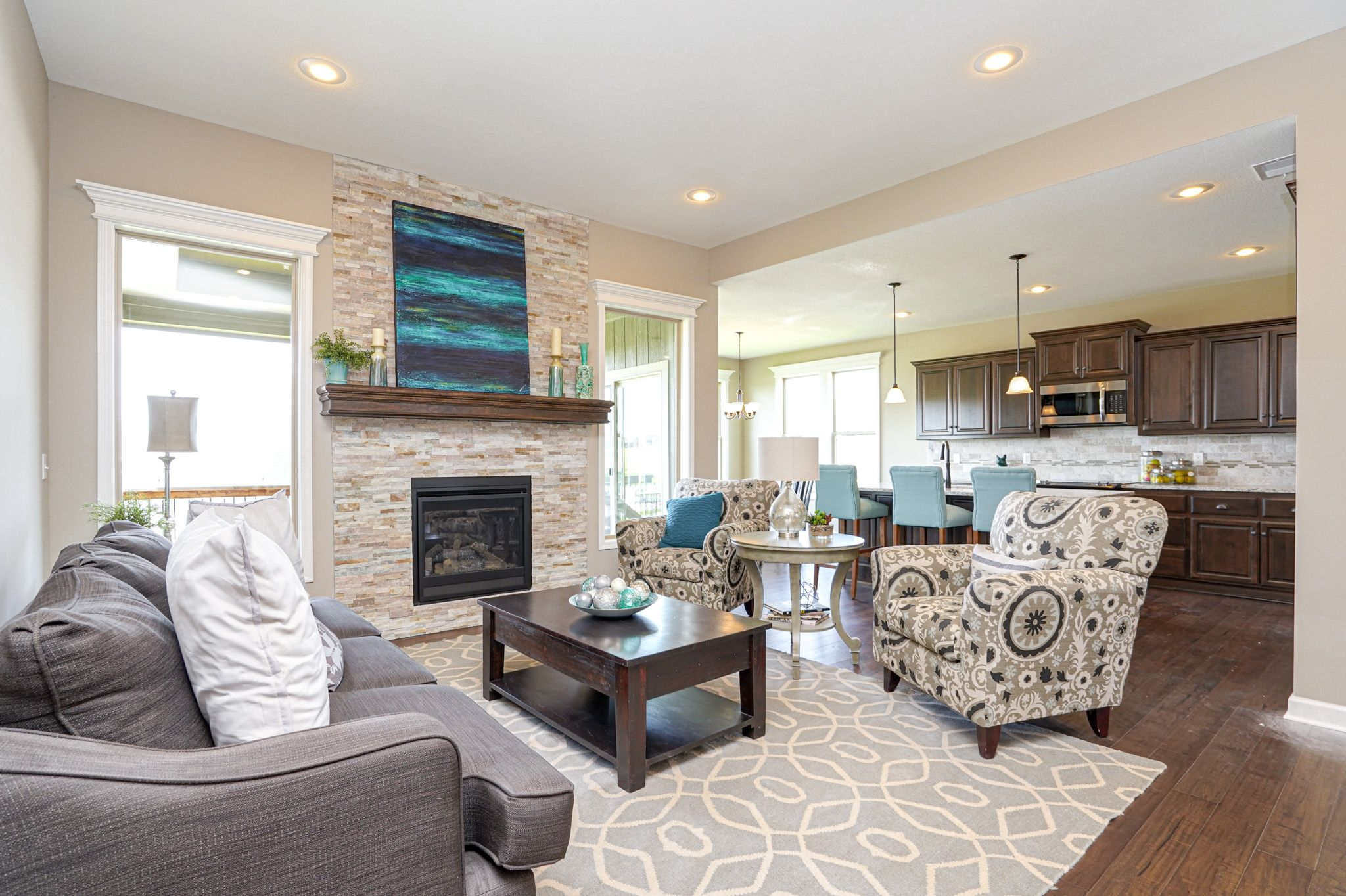 Living Area featured in the Cypress - Care free By Summit Homes in Kansas City, MO