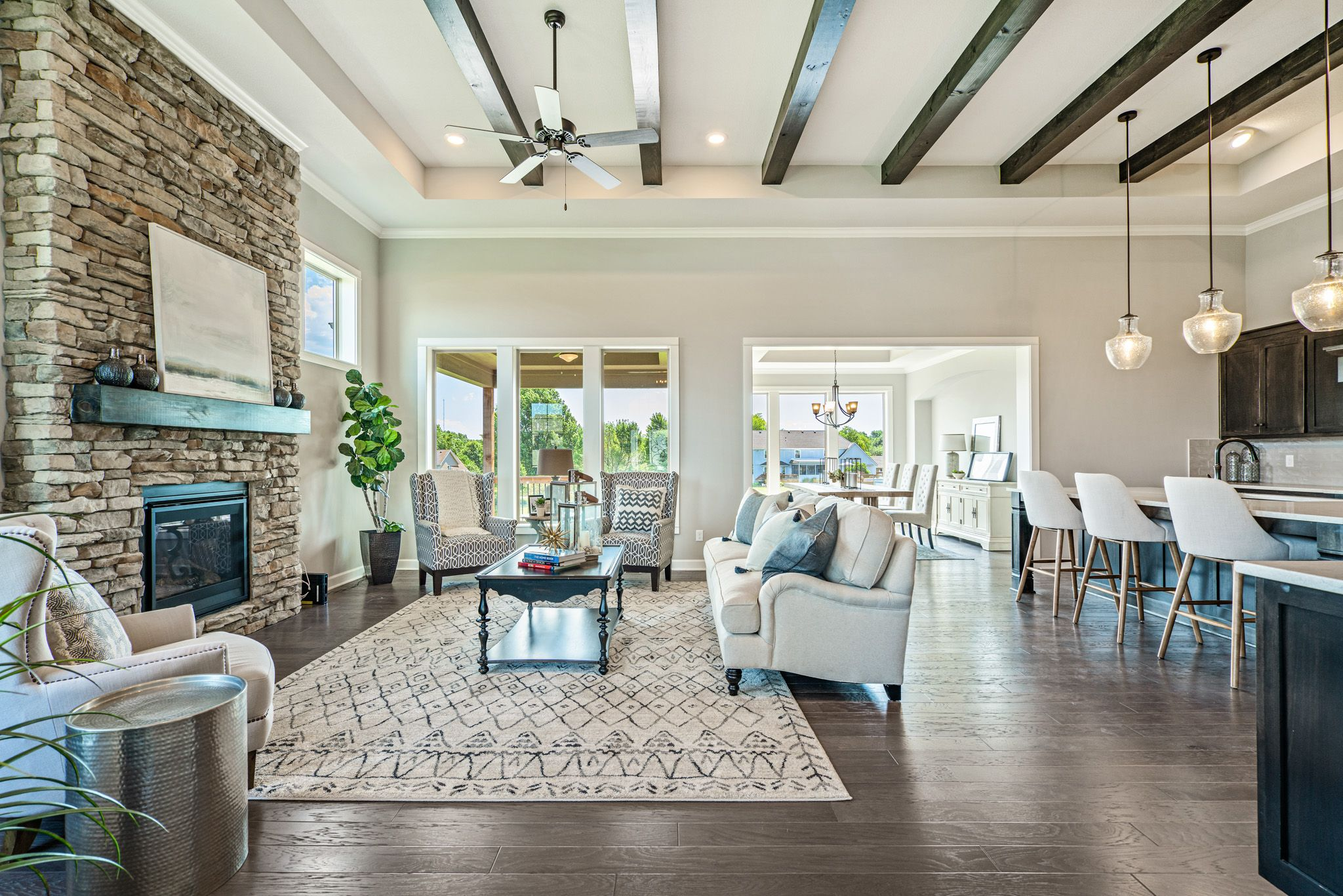Living Area featured in the Pikewood By Summit Homes in Kansas City, MO