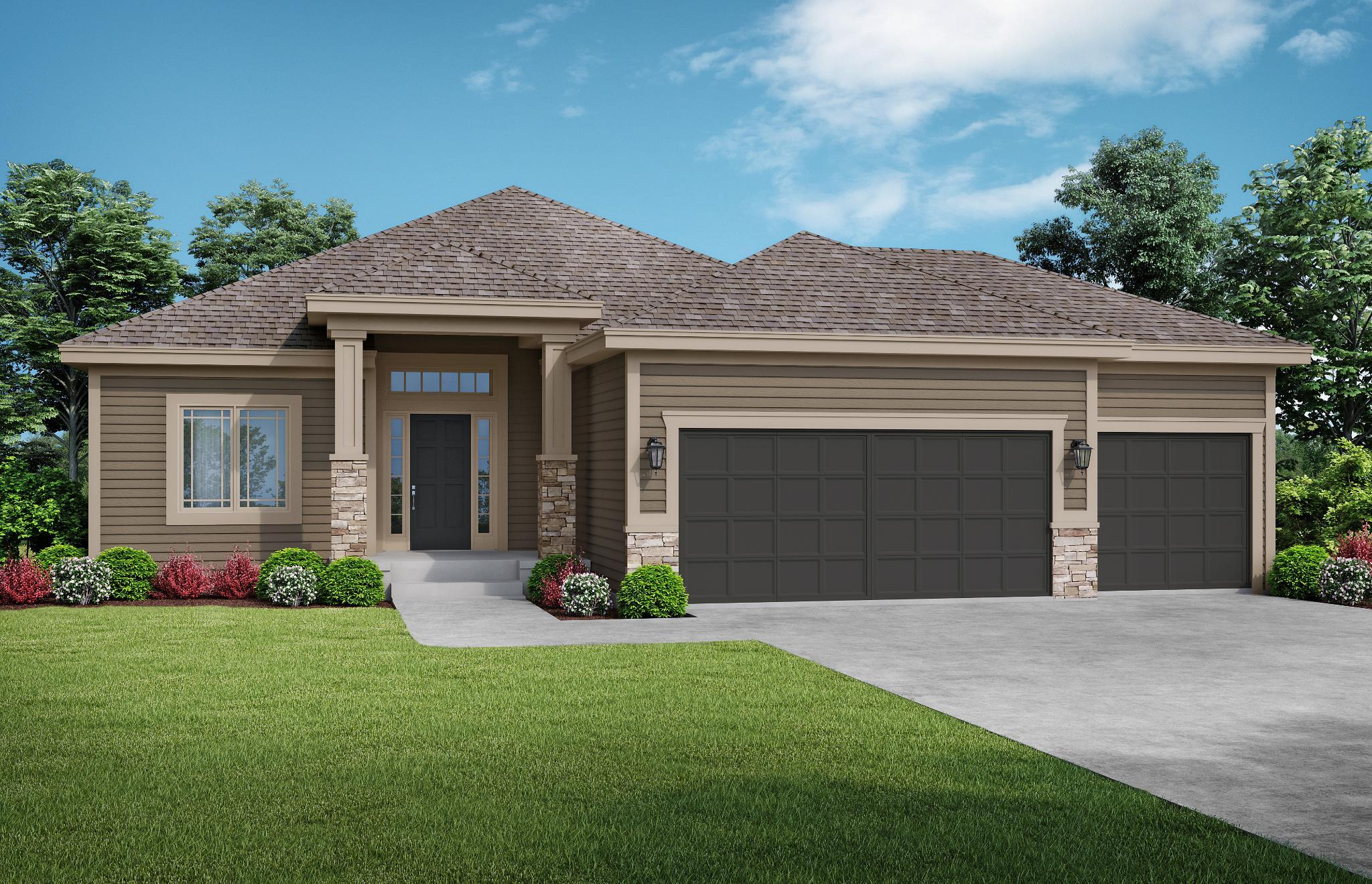 Exterior featured in the Meadowbrook By Summit Homes in Kansas City, MO
