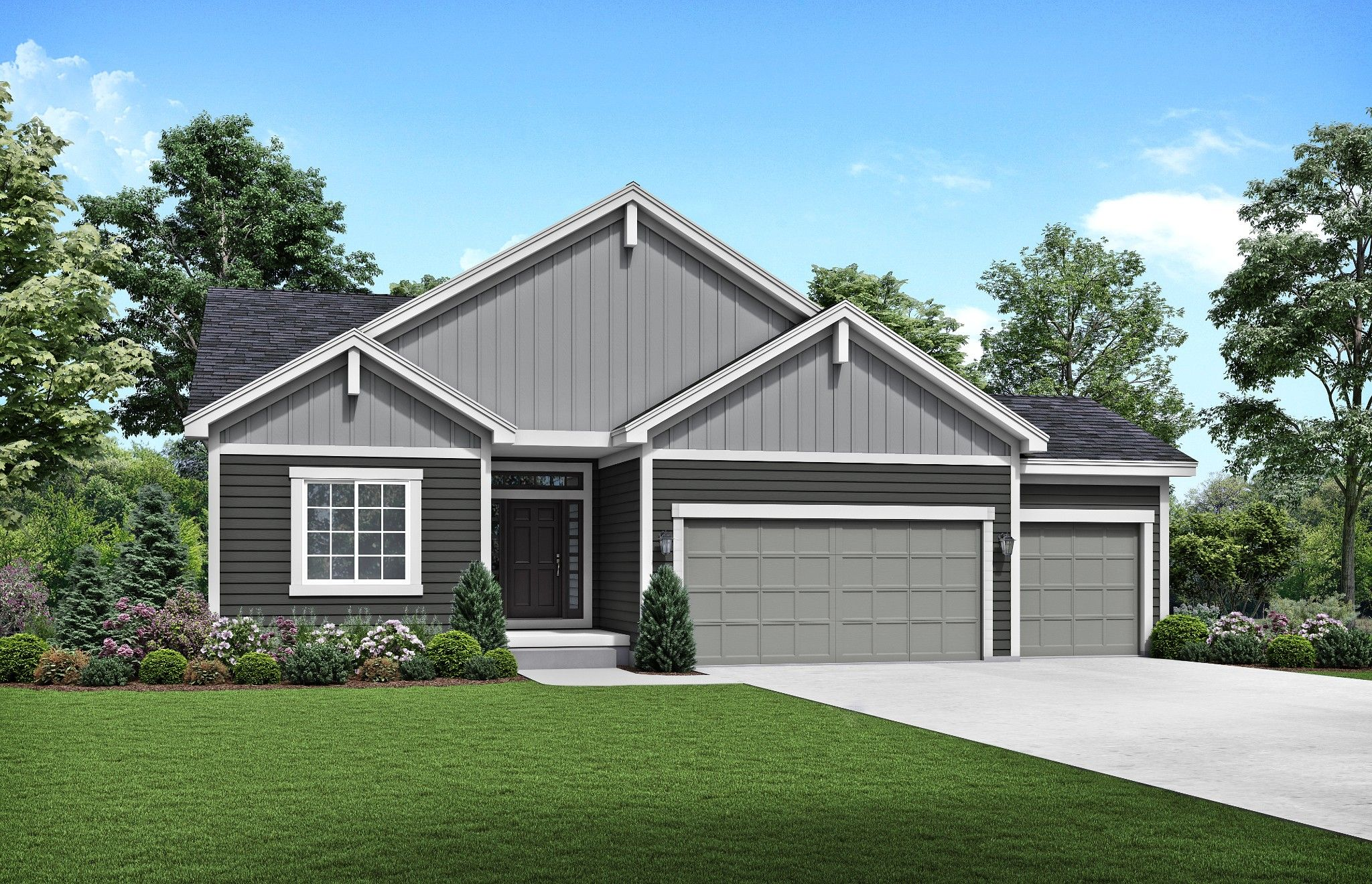 Exterior featured in the Somerset By Summit Homes in Kansas City, MO