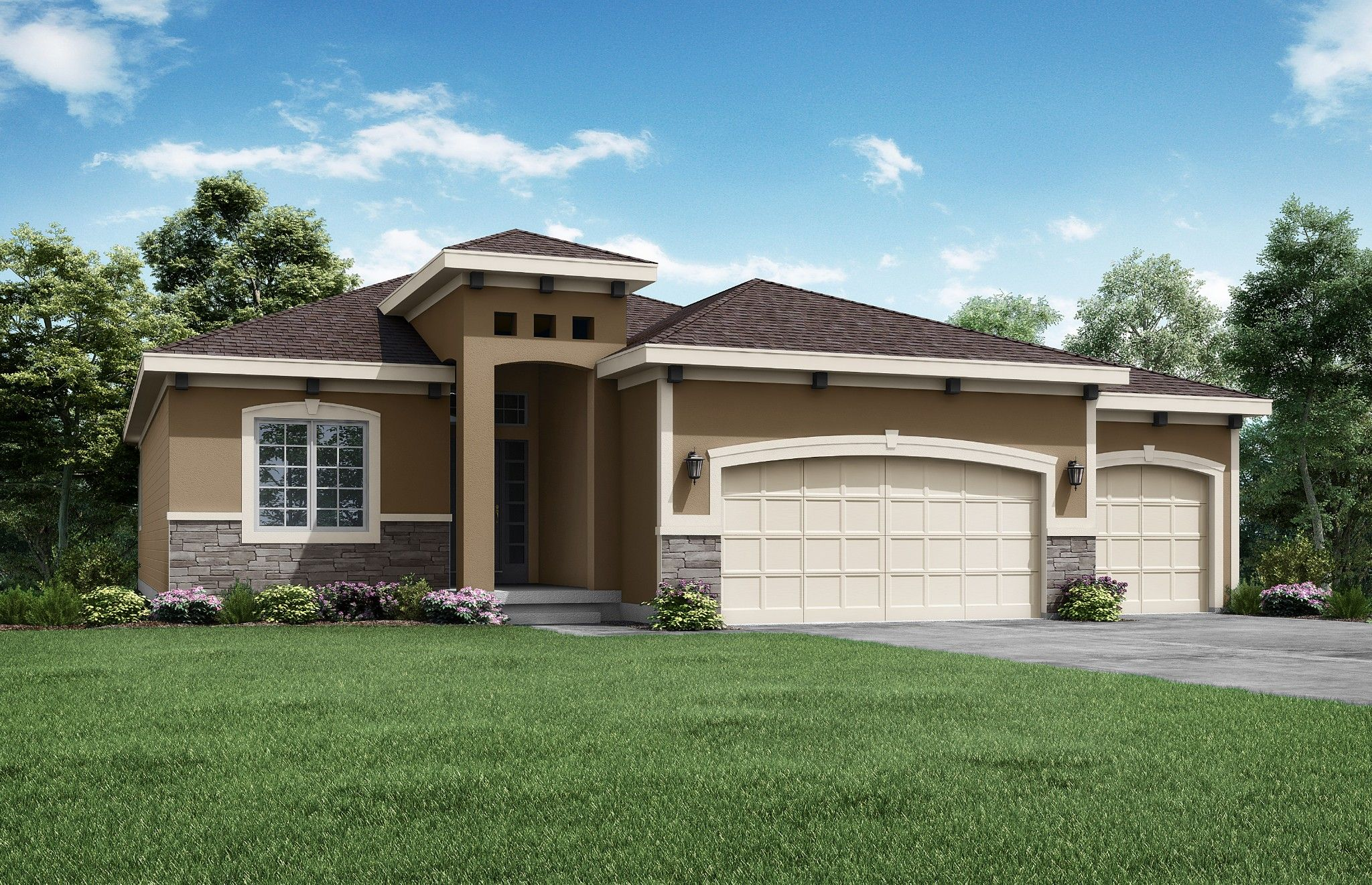 Exterior featured in the Cypress - Care free By Summit Homes in Kansas City, MO