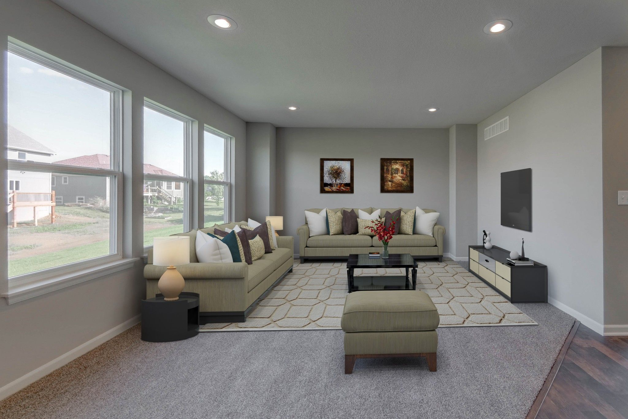 Living Area featured in the Brookside - IA By Summit Homes in Des Moines, IA