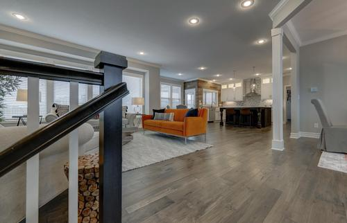 Greatroom-and-Dining-in-The Charleston-at-Reserve at Ravenwood-in-Olathe