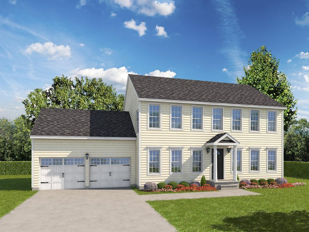 Exterior featured in The Reynaud Mystic Grand By T & M Homes in Hartford, CT