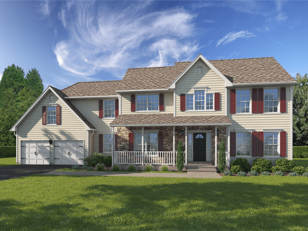 Exterior featured in The Richmond Warren Plus By T & M Homes in Hartford, CT