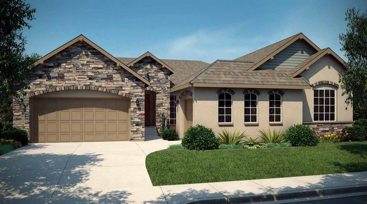 Exterior:Rendering of Residence 6001 | European Cottage Style Exterior - Colors will vary on actual home.