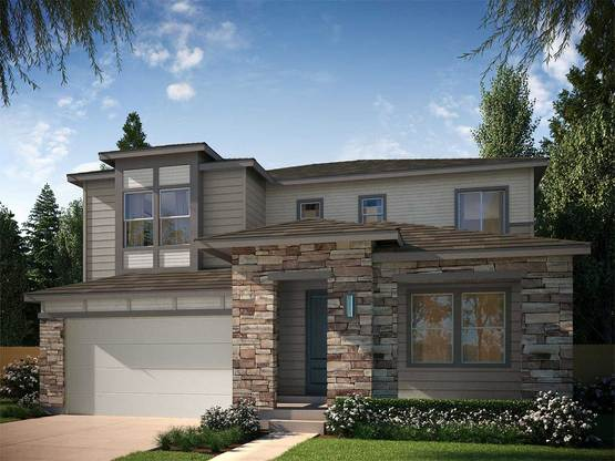 Exterior:Example of Residence 4004 Rendering | Contemporary Prairie - Colors and materials will vary on actua