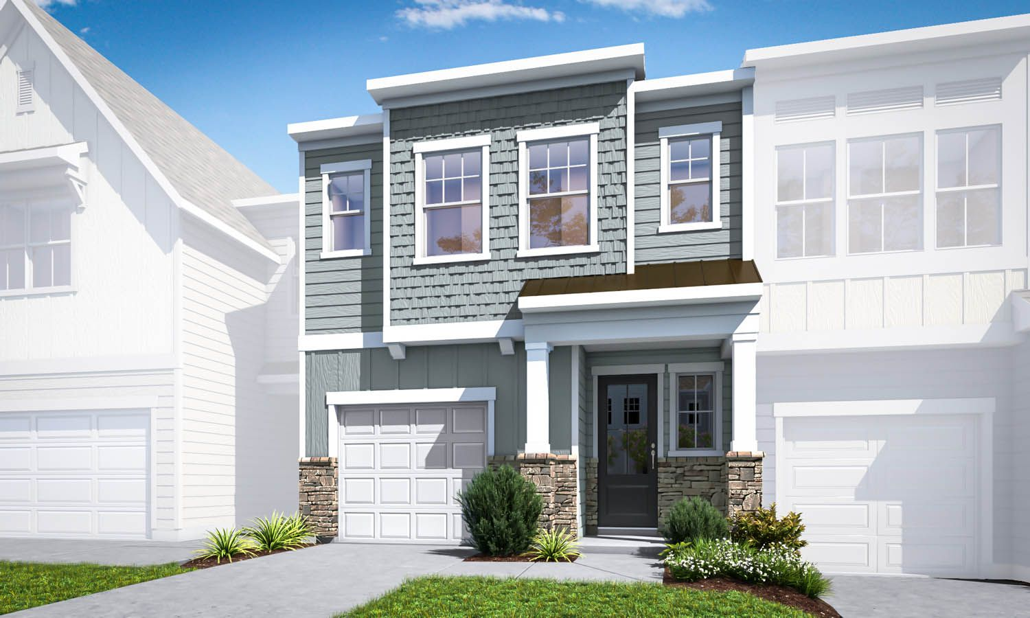 Exterior featured in the Residence 2 By TRI Pointe Homes in Charlotte, SC