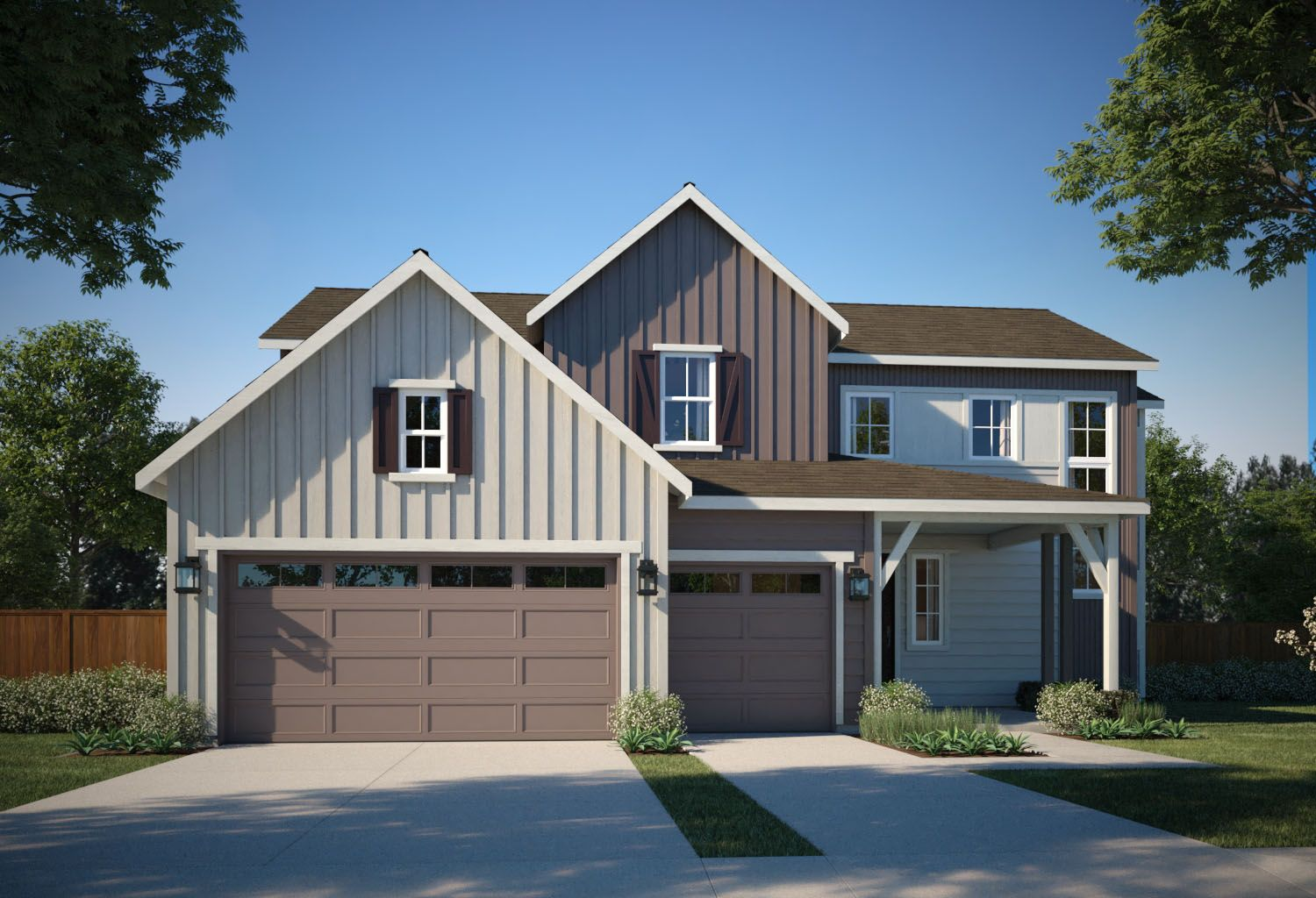 Exterior featured in the Residence 5803 By TRI Pointe Homes in Denver, CO