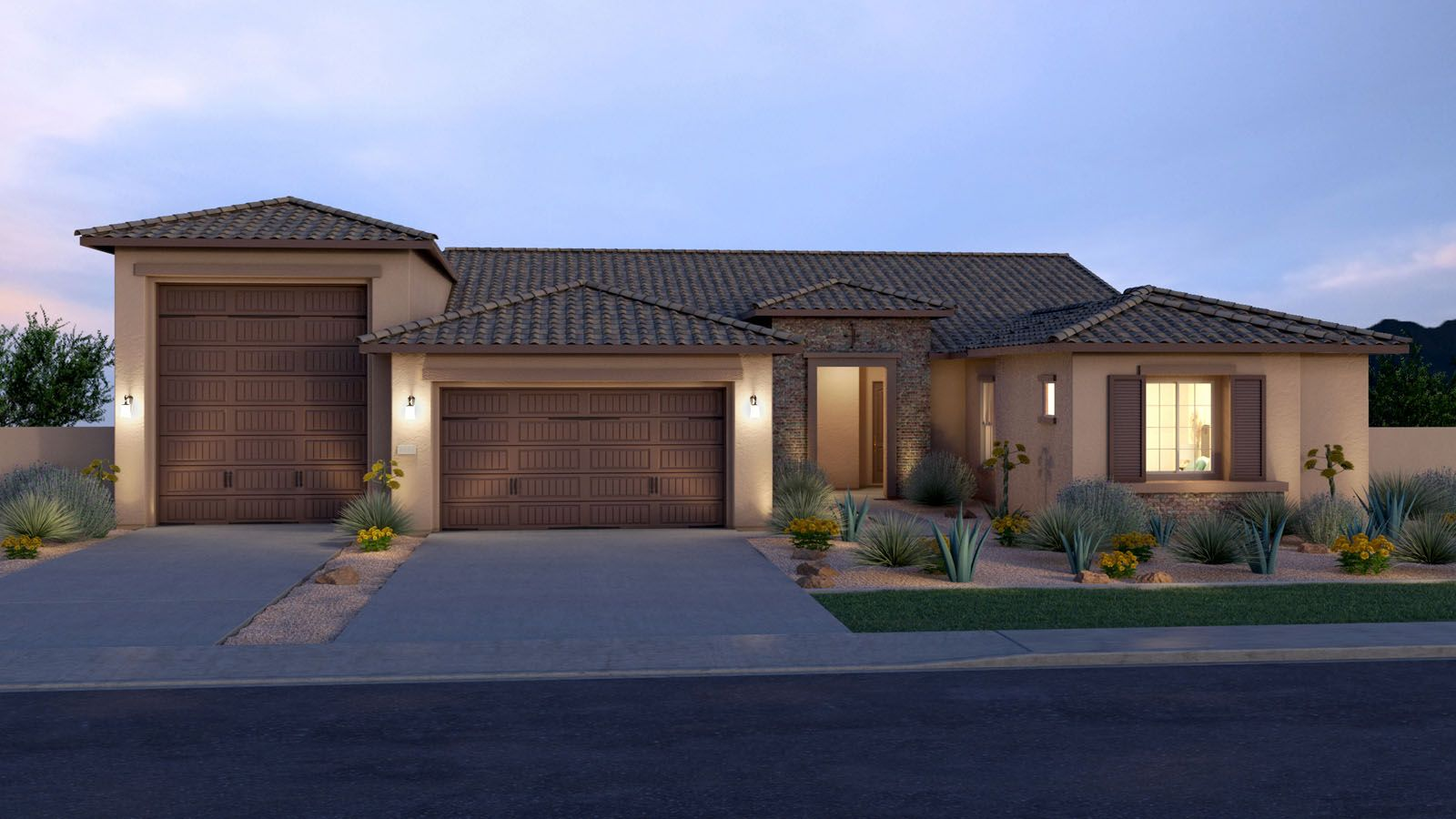 Exterior featured in the Tucker By Tri Pointe Homes in Phoenix-Mesa, AZ