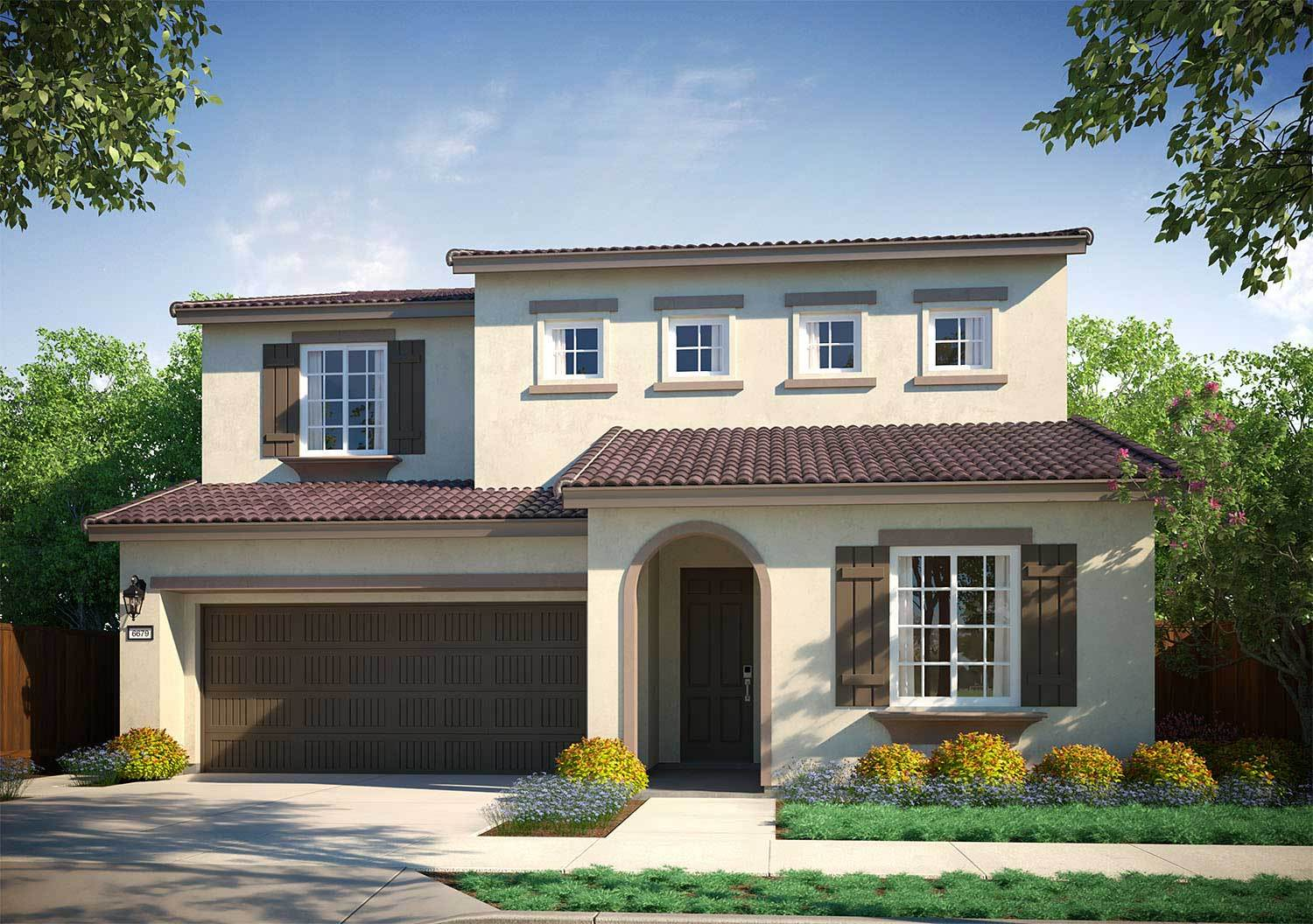 Exterior featured in the Plan 3 By Tri Pointe Homes in San Jose, CA
