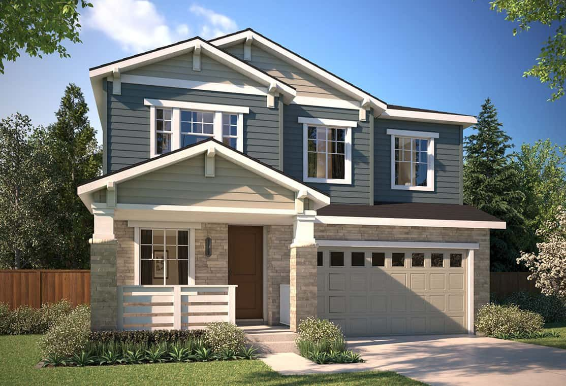 Exterior featured in the Plan 3503 By Tri Pointe Homes in Denver, CO