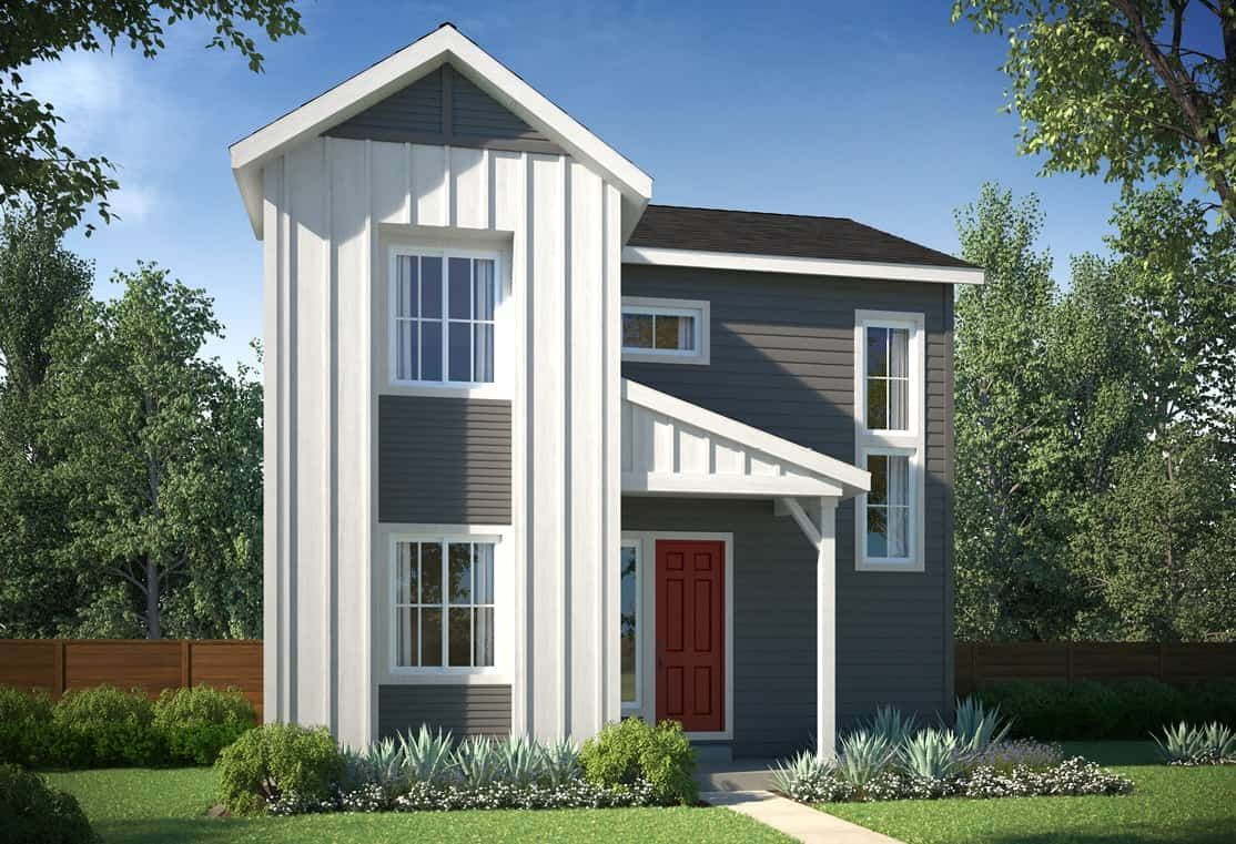 Exterior A - Colorado Farmhouse:Example of Plan 2804 - Colorado Farmhouse