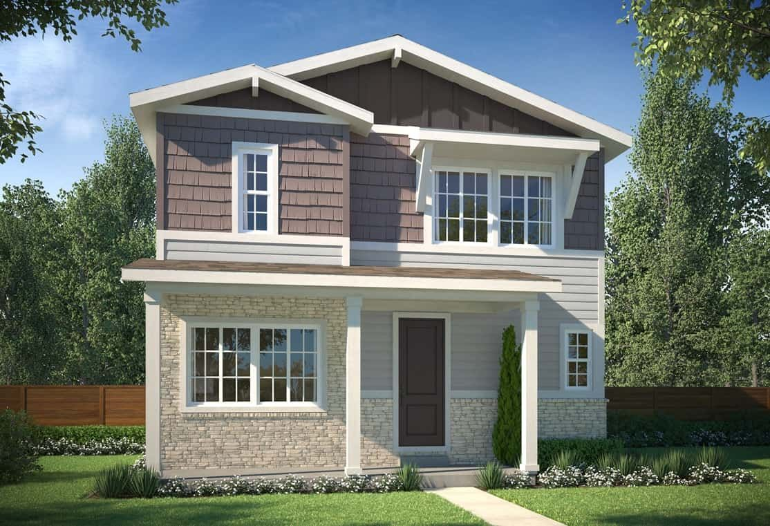 Exterior B - Colorado Cottage:Example of Plan 2802 - Colorado Cottage