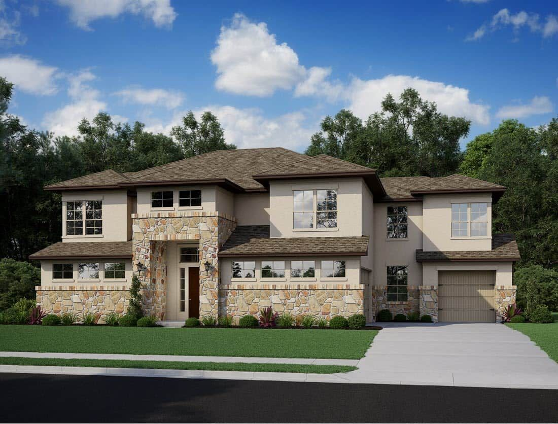 Exterior featured in the Verona By Tri Pointe Homes in Houston, TX