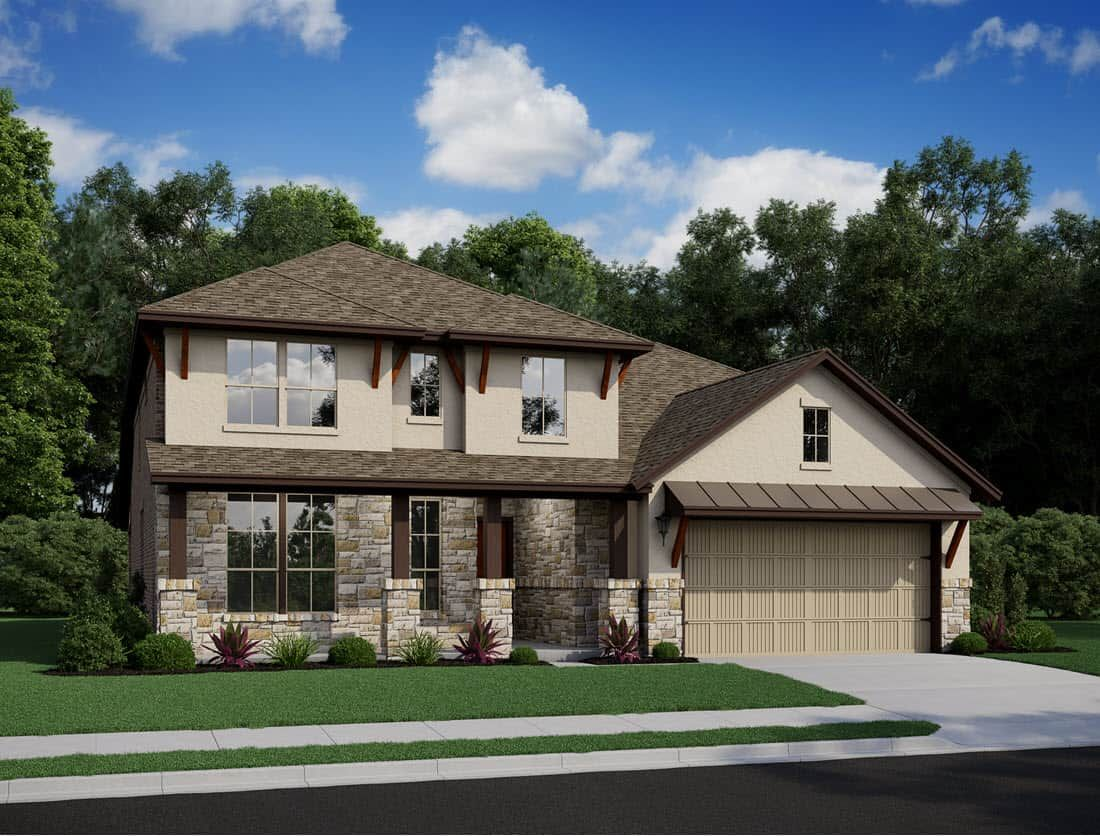 Exterior featured in the Barnhart By Tri Pointe Homes in Houston, TX