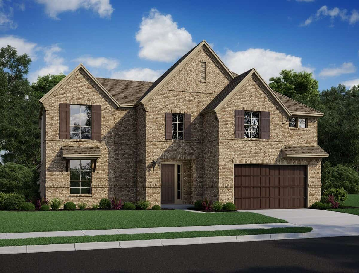 Exterior featured in the Avinger By Tri Pointe Homes in Houston, TX