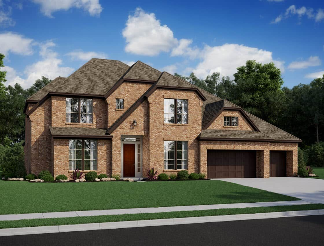 Exterior featured in the Casoria By Tri Pointe Homes in Houston, TX