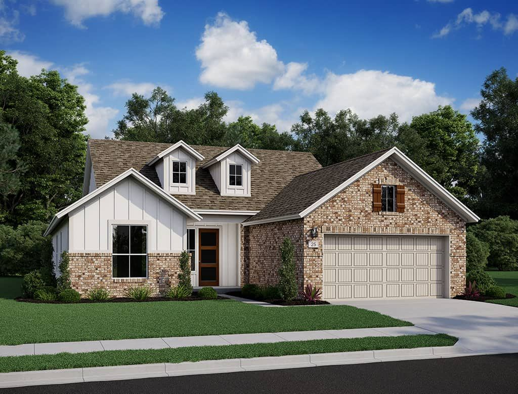 Exterior featured in the Trinity By Tri Pointe Homes in San Antonio, TX