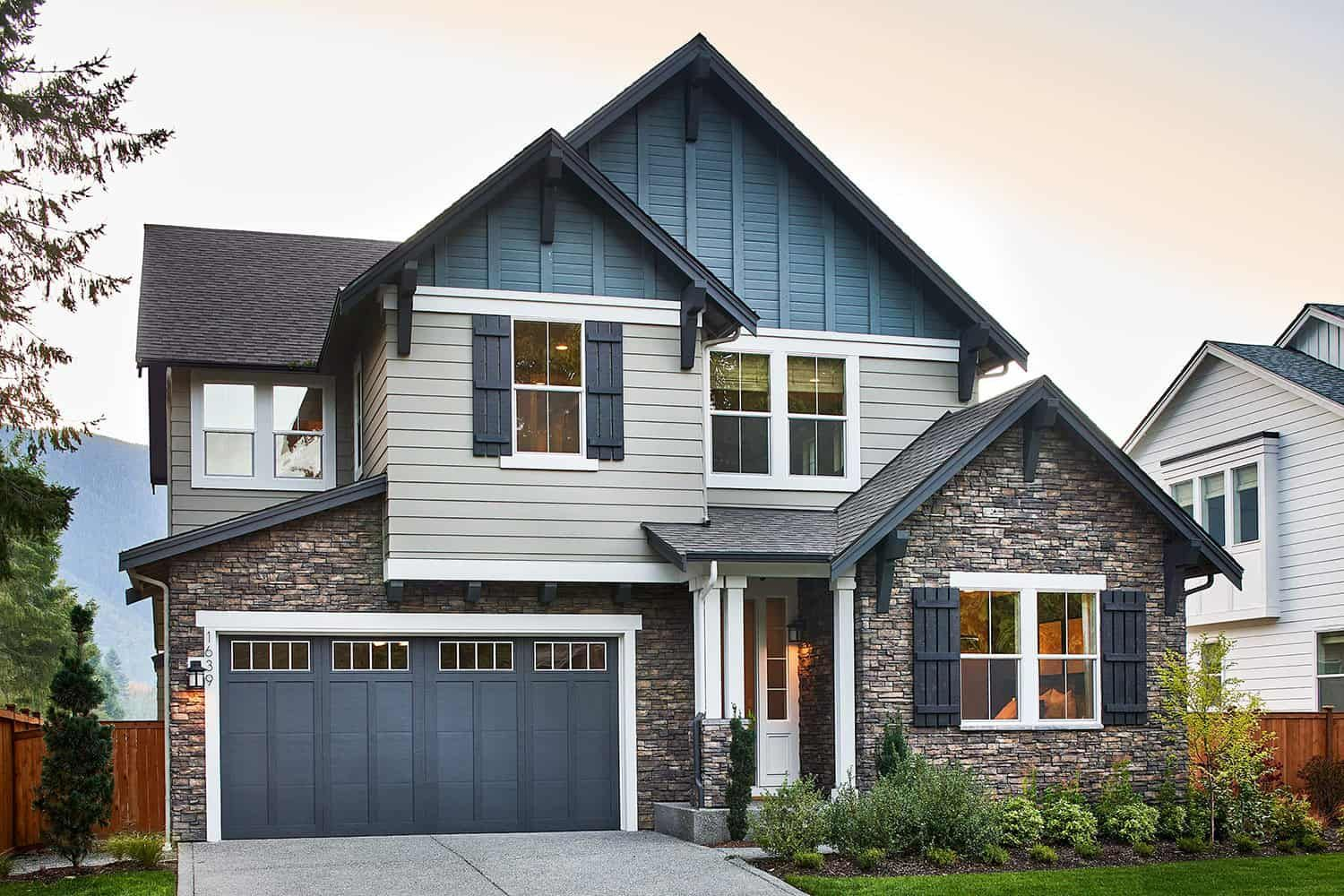 Exterior featured in the Plan M-300 By Tri Pointe Homes in Seattle-Bellevue, WA