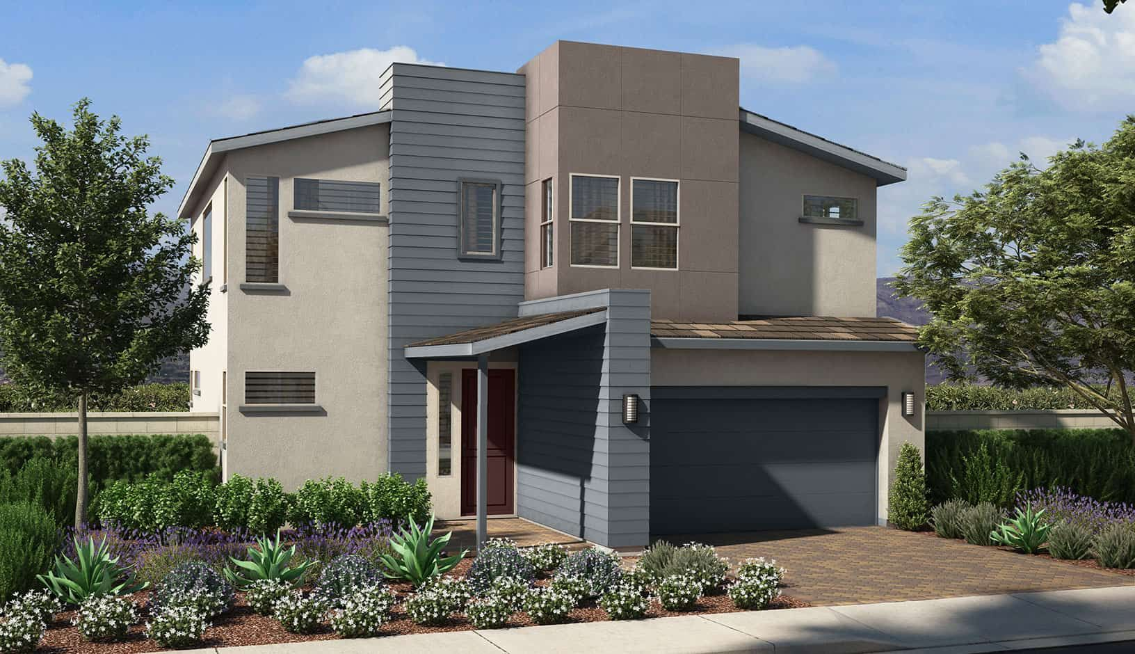 Exterior featured in the Plan 1 By Tri Pointe Homes in Las Vegas, NV