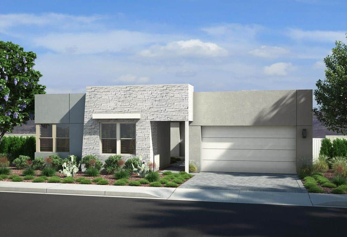 PLAN 2 - EXTERIOR B:Desert Contemporary