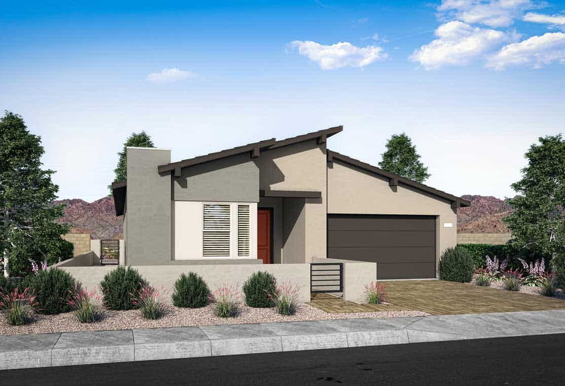 Elevation Plan 1A:Transitional Modern