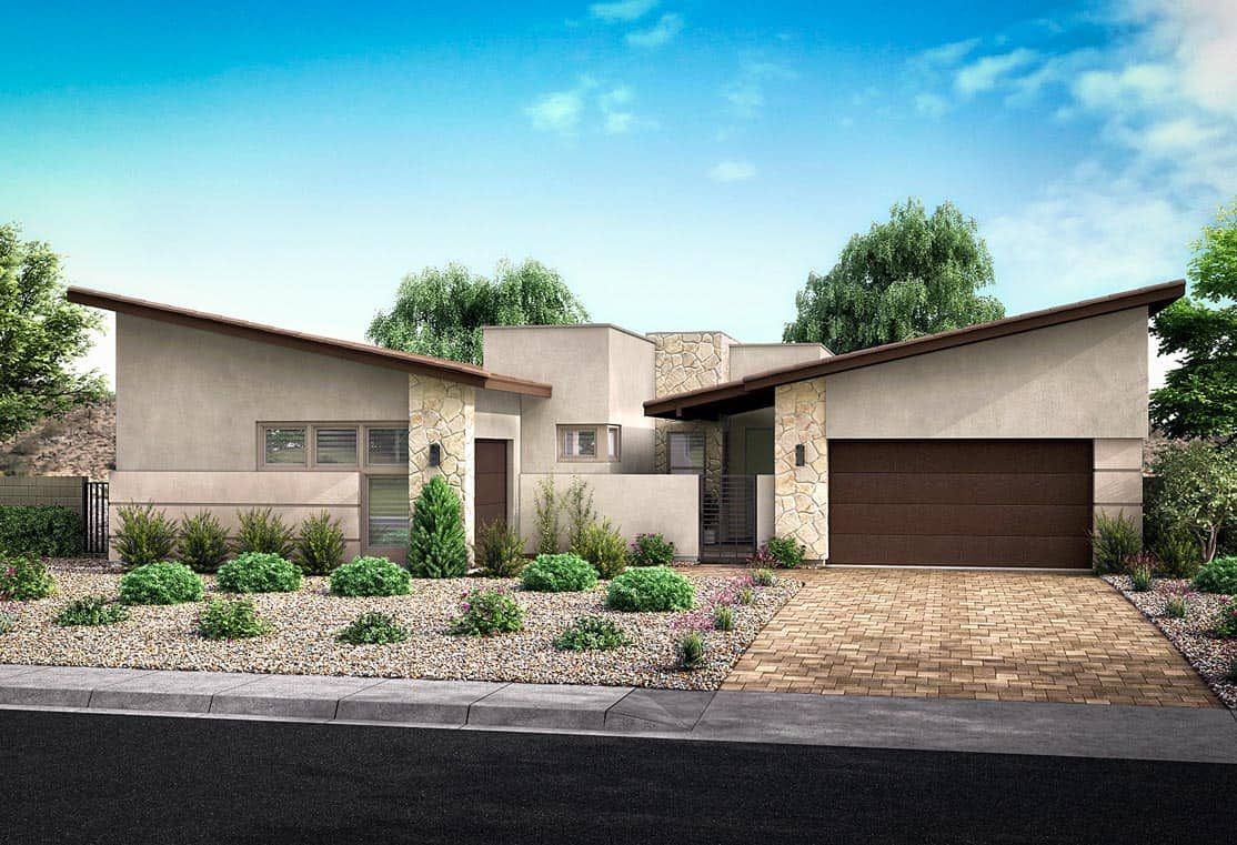 Exterior featured in the Plan 6 By Tri Pointe Homes in Las Vegas, NV