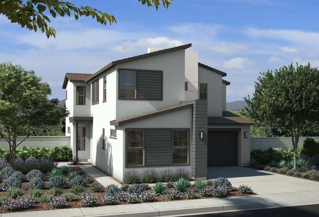 Exterior featured in the Plan 3 By Tri Pointe Homes in Las Vegas, NV