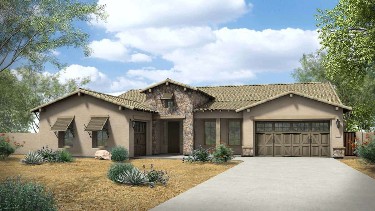 Exterior featured in the Pinnacle By Tri Pointe Homes in Phoenix-Mesa, AZ