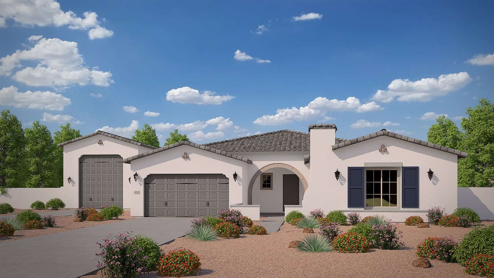 MH-residence-Spur-Cross-New-5571-A-L:Elevation A