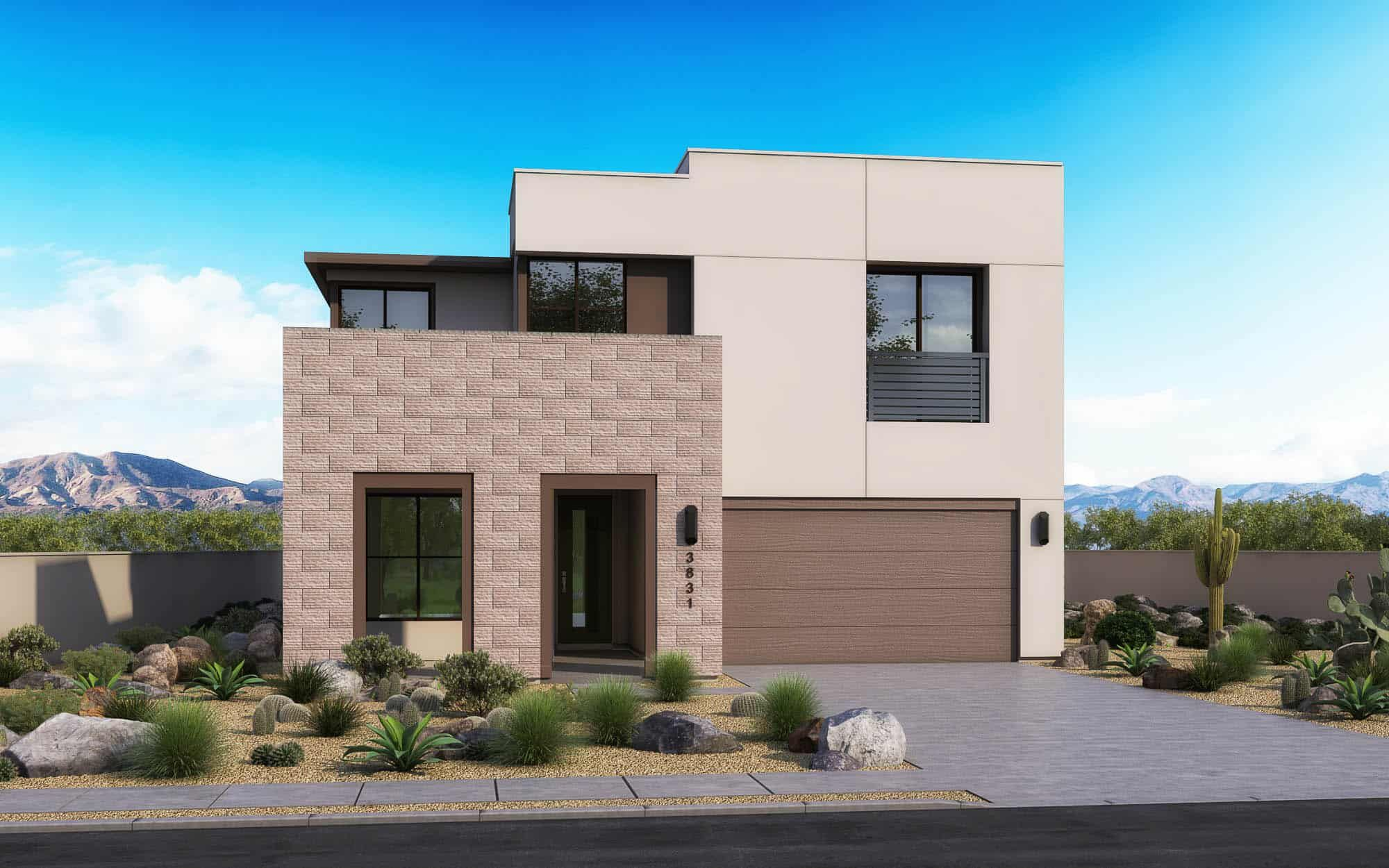 Exterior featured in the Loma Plan 3 By Tri Pointe Homes in Phoenix-Mesa, AZ