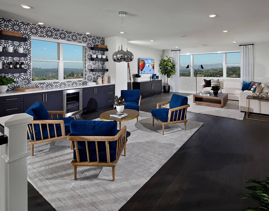 Living Area featured in the Plan 2 By Tri Pointe Homes in San Diego, CA