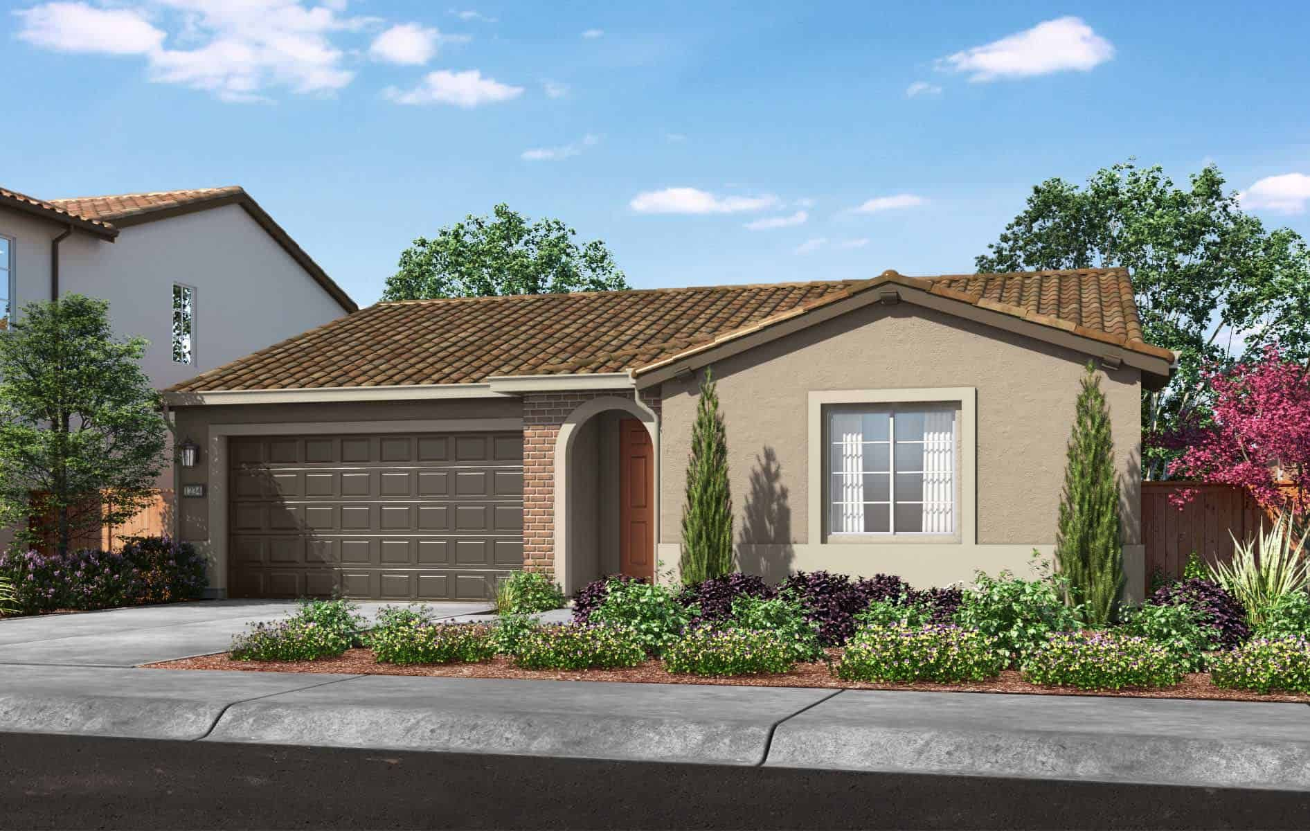 Plan 1 Exterior Style: Adobe Ranch