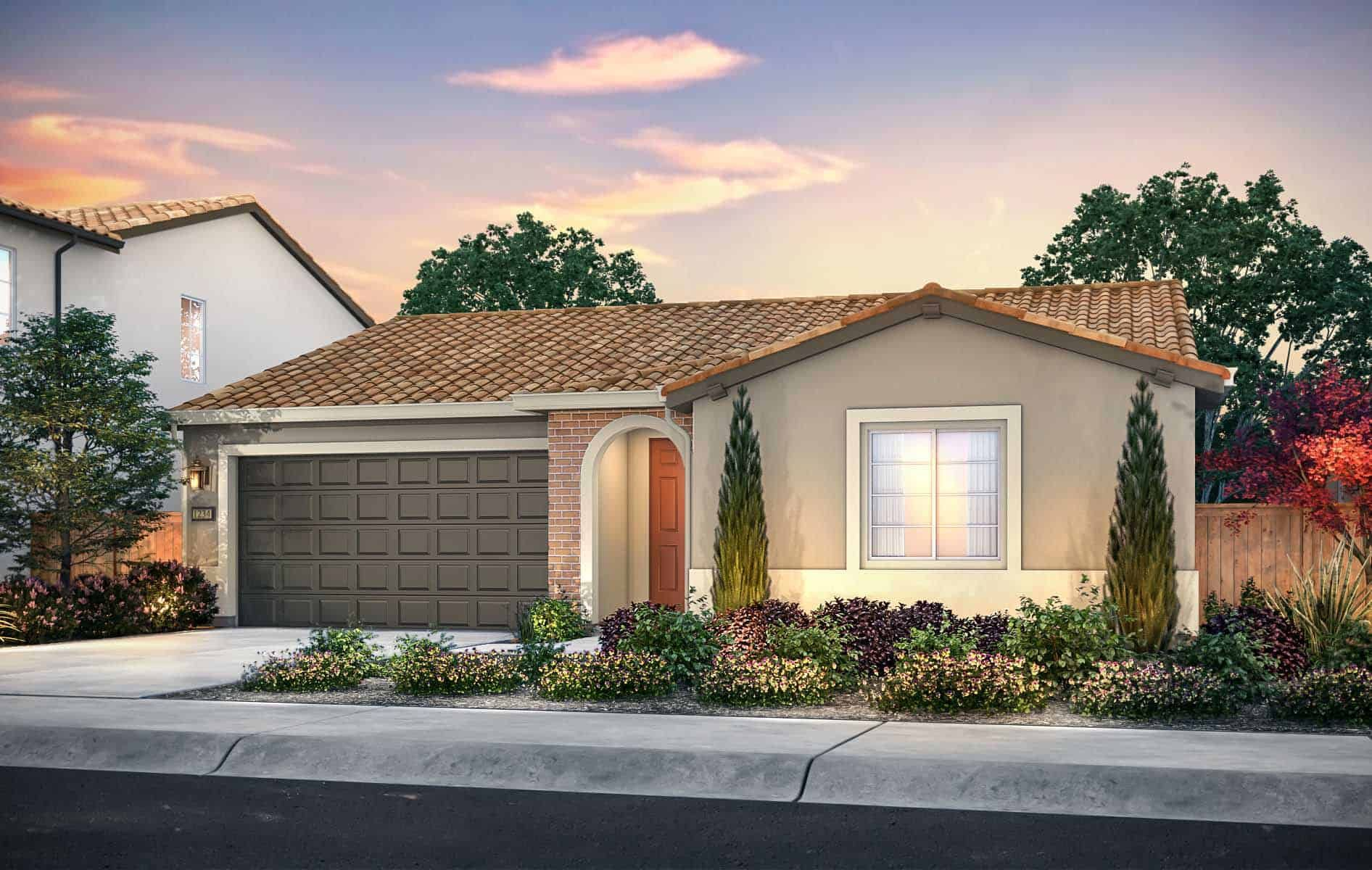 Plan 1 Exterior Style: Adobe Ranch